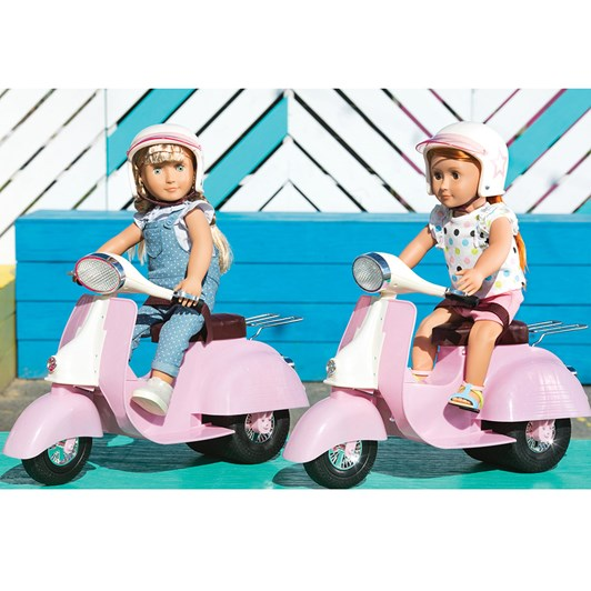 Our Generation Dolls Scooter - Pink & Ivory