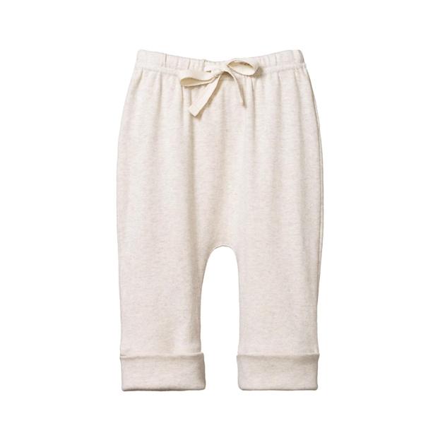 Nature Baby Drawstring Pants - oatmeal marl