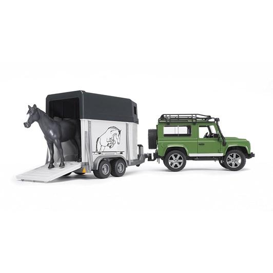 Bruder L/Rover Defend/Horse Trailer