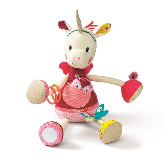 Lilliputiens Louise Cuddly Activity Unicorn