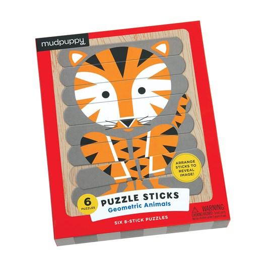 Mudpuppy Geometric Animals Puzzle Sticks