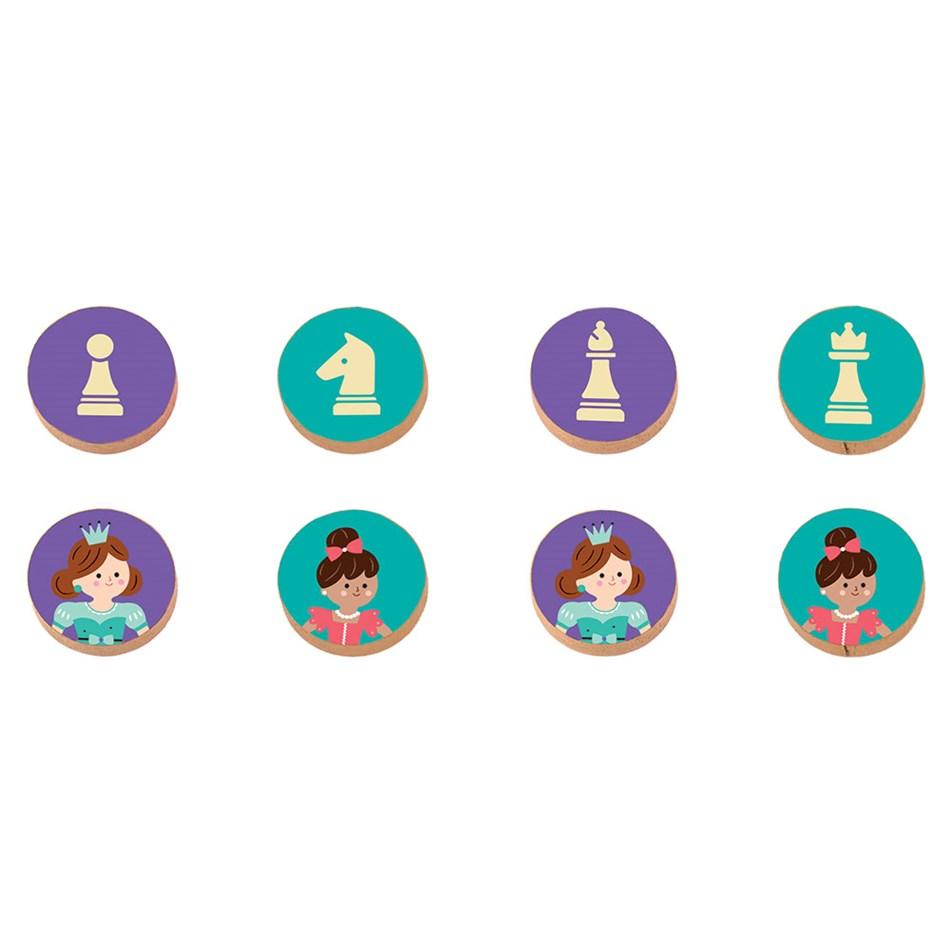 Mudpuppy Enchanting Princess Chess & Checkers -