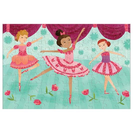 Mudpuppy Ballerinas Glitter Puzzle