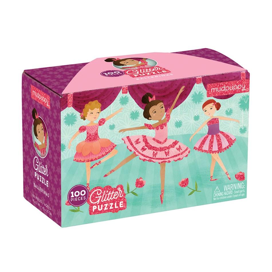 Mudpuppy Ballerinas Glitter Puzzle - na