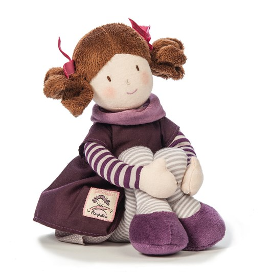 Ragtales Evie Small Rag Doll 35Cm Mauve Dress