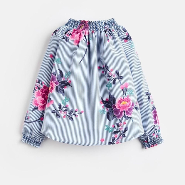 Joules Woven Smocked Blouse - blchflr