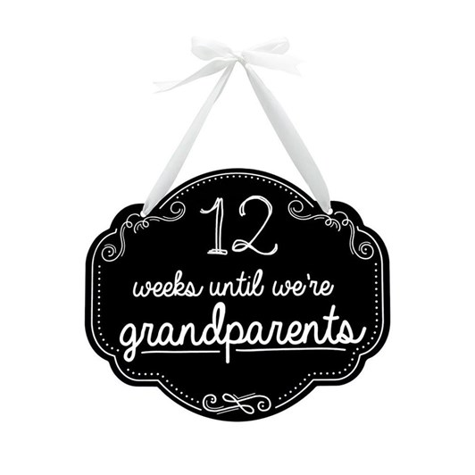 Pearhead Weeks Until Grandparents Chalkboard Sign