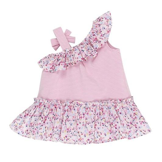 Bebe Mia Stripe Dress W Bow Strap