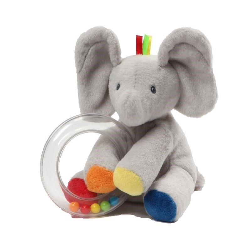 Jasnor Gund Flappy Plush Ring Rattle -