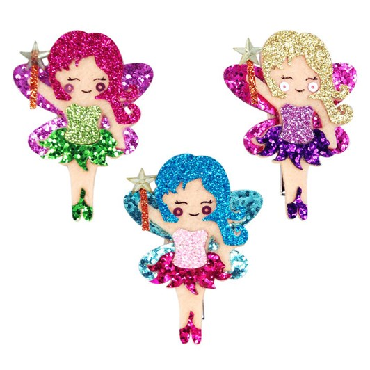 Pink Poppy Glitter Fairy Hairclips In Tub