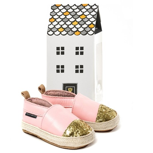 Pretty Brave Espadrille Soft Pink With Glitter Toe Shoes