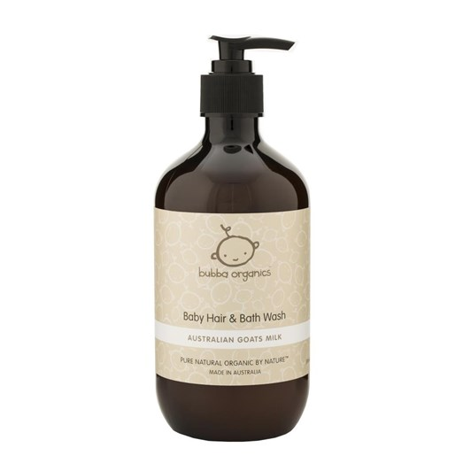 Bubba Organics Australian Goats Milk Baby Hair & Bath Wash 500Ml