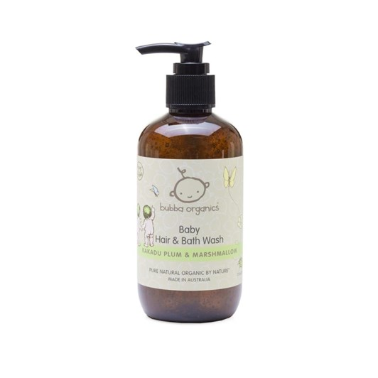 Bubba Organics Australian Kakadu Plum & Marshmallow Baby Hair & Bath 500ml