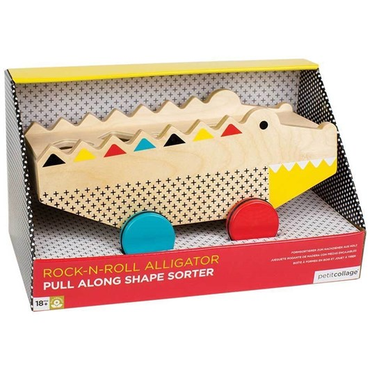 Petit Collage Alligator Wood Shape Sorter &