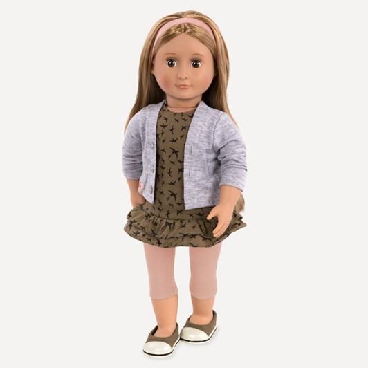 "Our Generation Dolls Og 18"" Regular Doll - Dress, Cardigan And Leggings"