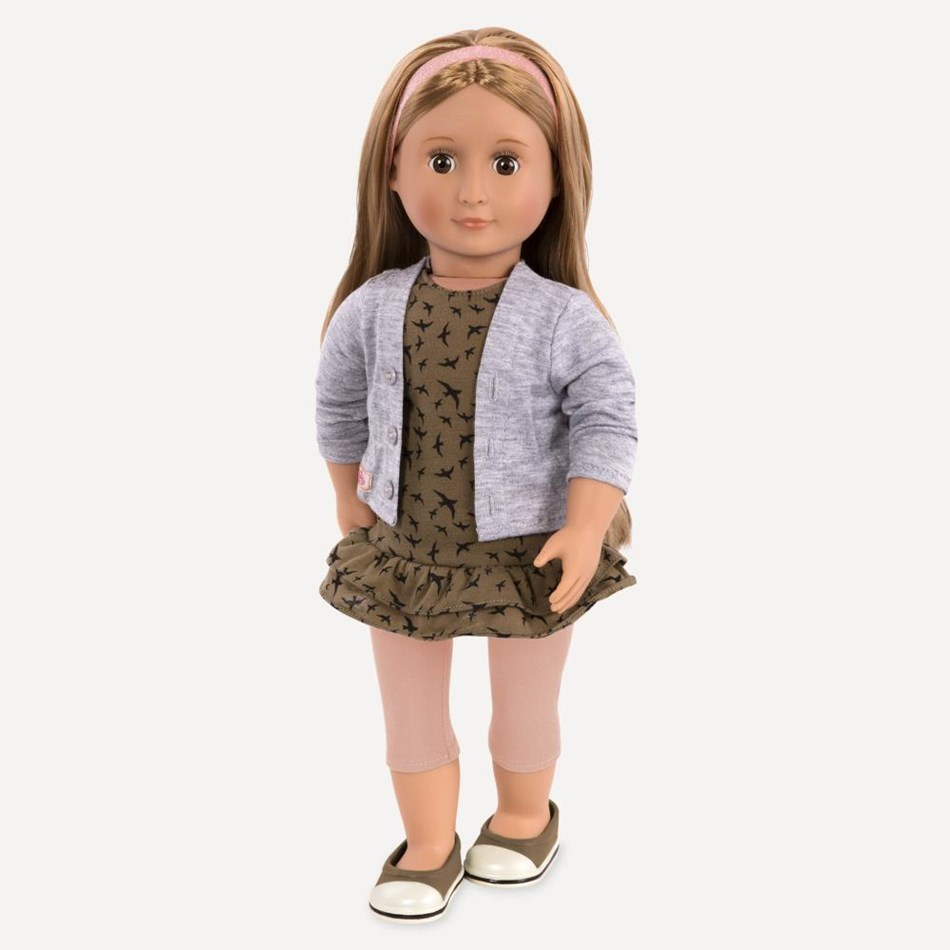 "Our Generation Dolls Og 18"" Regular Doll - Dress, Cardigan And Leggings -"