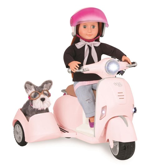 Our Generation Dolls Og Accessory - Ride Along Scooter With Side Car