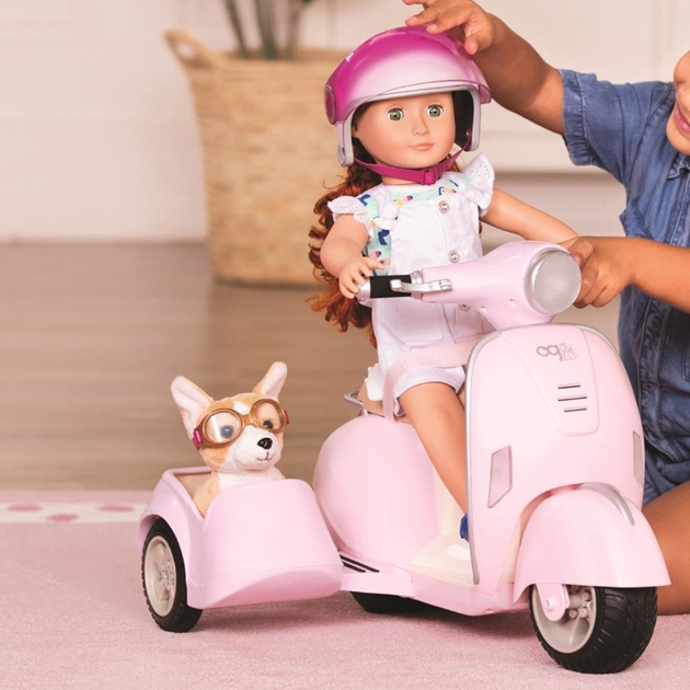 Our Generation Dolls Og Accessory - Ride Along Scooter With Side Car - na