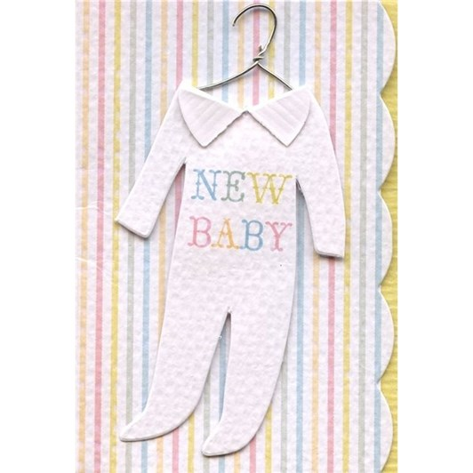 Oxted Enclosure New Baby Stripey Card
