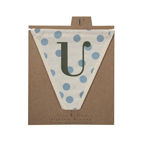Oxted Blue Spotty U Pennant