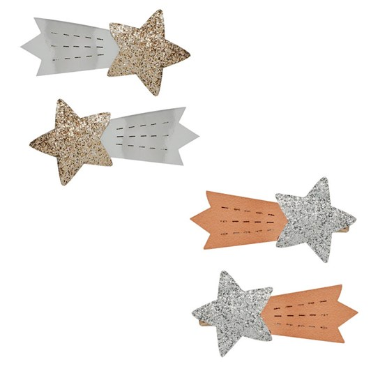 Pink Poppy Pp Metallic Shooting Star Hairclips