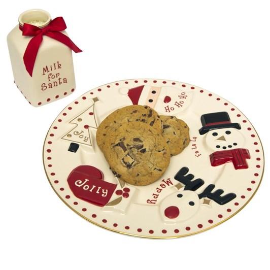 Fao Schwarz Santa Milk And Cookie 2Set