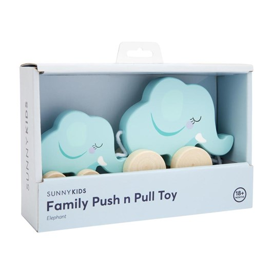 Sunnylife Elephant Family Push Pull Toy
