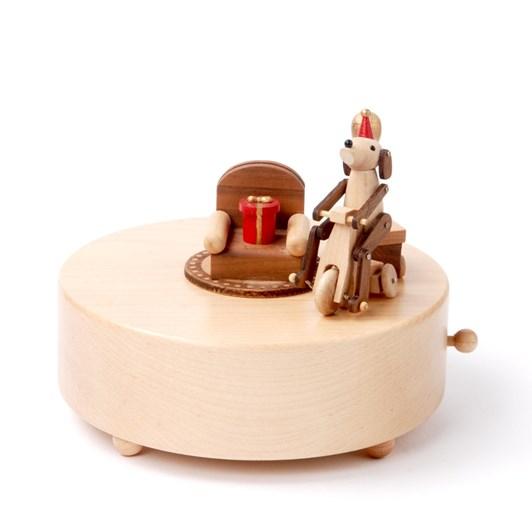 Wooderful Life - Round & Round Music Box - Happy Puppy 1pc