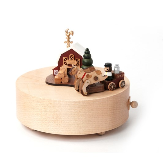Wooderful Life - Round & Round Music Box - Happy Farm 1pc