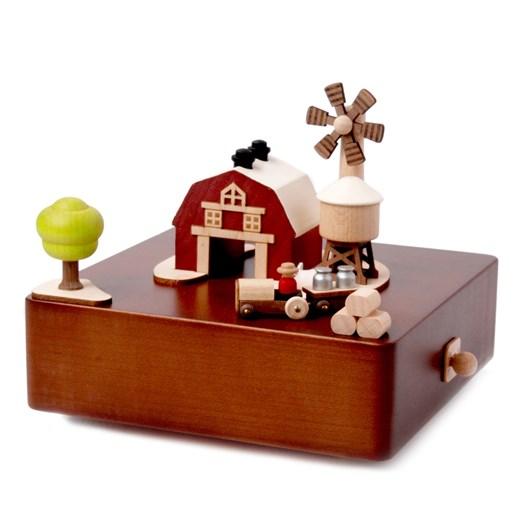 Wooderful Life - City Wooden Music Box - Barn 1pc
