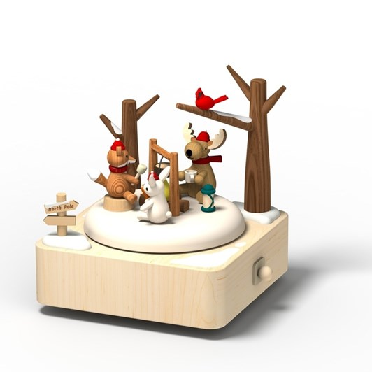 Wooderful Life - Music Go Round Music Box - Winter Camping 1pc