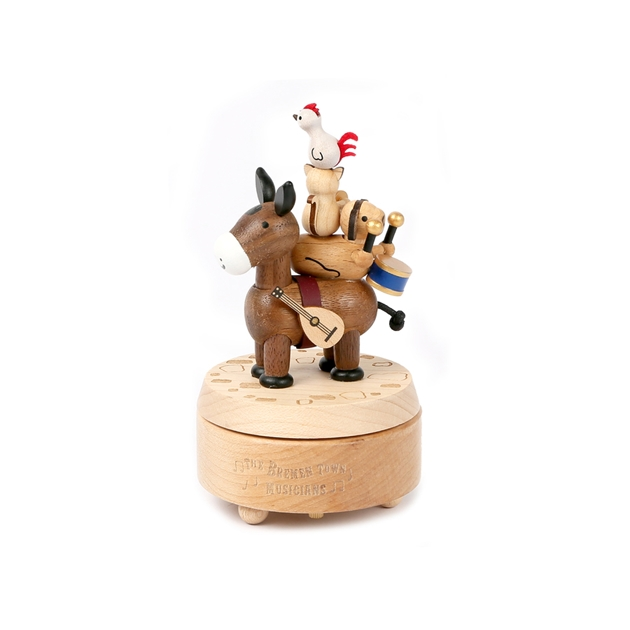 Wooderful Life - Mini Music Box - Town Musicians of Bremen 1pc -