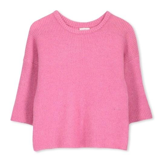 Milky Pink 3/4 Sleeve Jumper