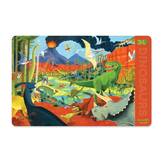 Croc Creek 2-Sided Placemat Dinosaurs