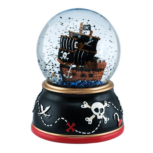 Pink Poppy Tono Pirate Ship Snow Globe