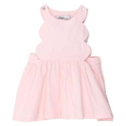 Bebe Amelia Scalloped Pinny Dress