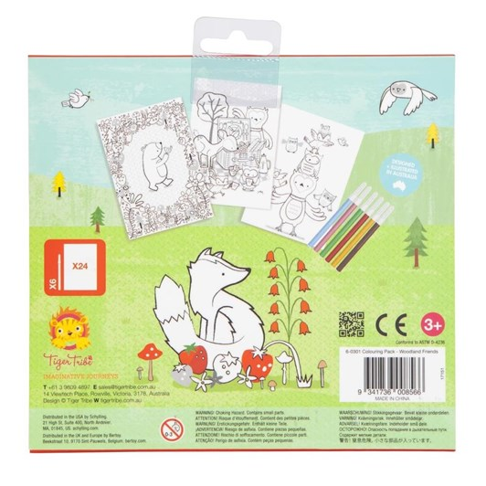 Tiger Tribe Colouring Pack - Woodland