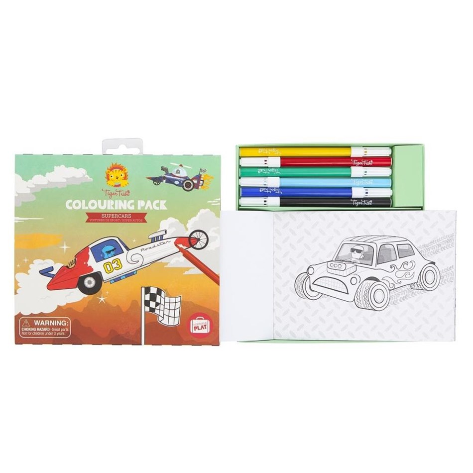 Tiger Tribe Colouring Pack - Supercars - na