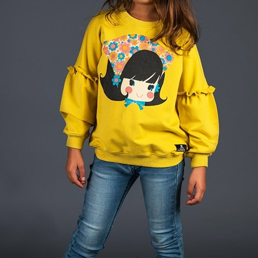 Rock Your Baby Gidget - Puff Sleeve Sweatshirt
