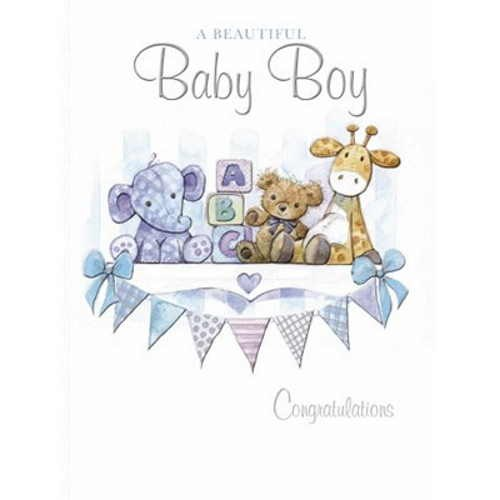 Oxted Baby Beautiful Baby Boy Teddies & Bunting
