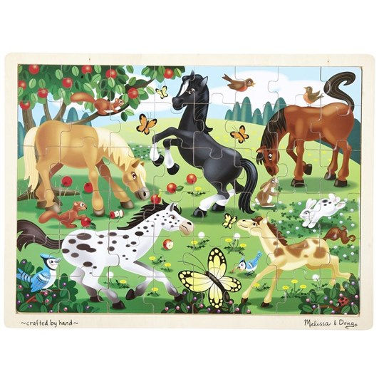 Melissa & Doug Frolicking Horses Wooden Puzzle(48 Pce)
