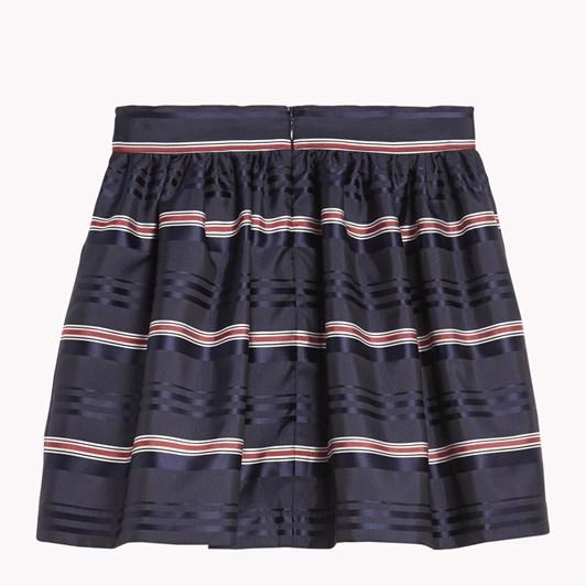 Tommy Hilfiger Signature Satin Stripe Skirt