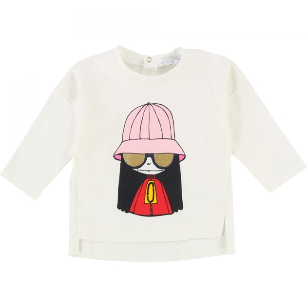 Little Marc Jacobs Long Sleeve T-Shirt - 117 offwhite