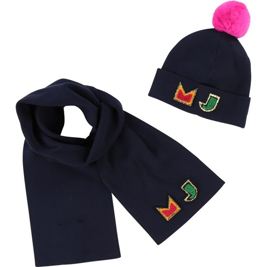 Little Marc Jacobs Set Pull On Hat+Scarf