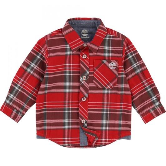 Timberland Long Sleeved Checkered Shirt