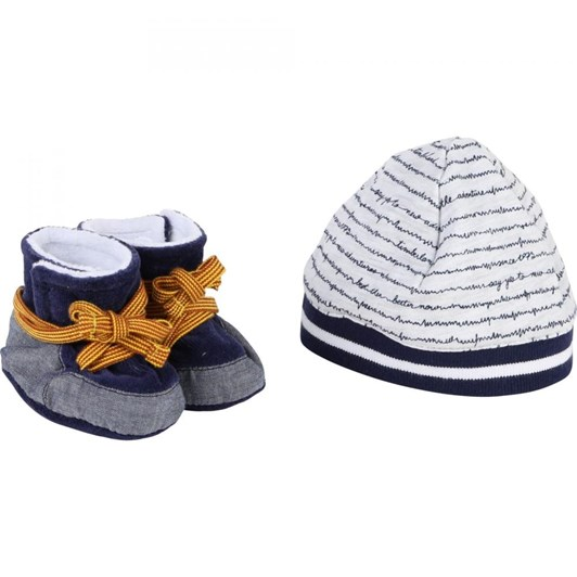 Timberland Pull On Hat+Slippers Set
