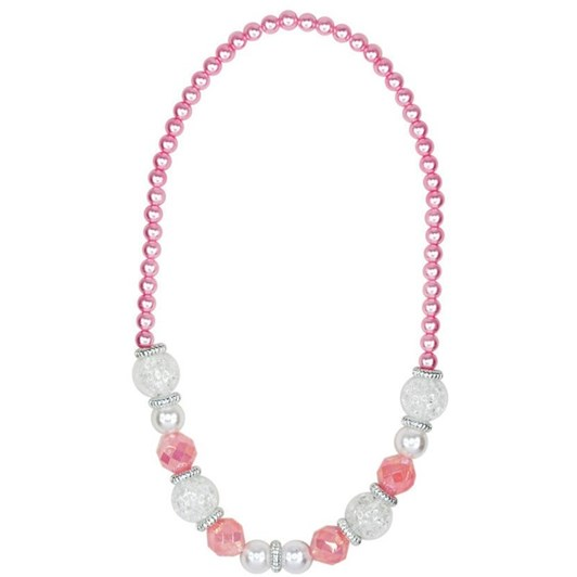 Pink Poppy Vintage Pearl Necklace
