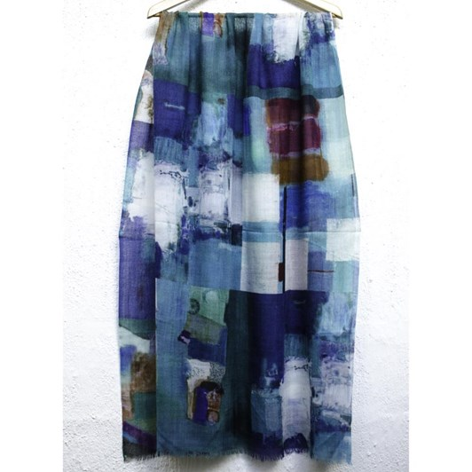 Directions Song Sung Blue Wool Scarf