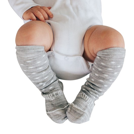 Lamington Socks Snowflake Merino Wool Knee High Socks NB-2Y