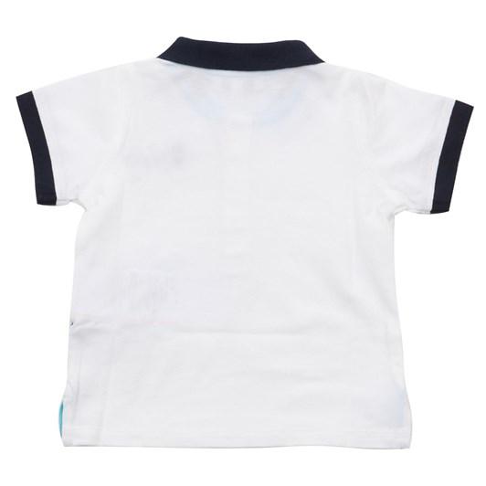 Emporio Armani Cotton piqué polo shirt with maxi logo